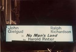 no mans land harold pinter english literature essay No man's land is an absurdist play by harold pinter written in 1974 and first produced and published in 1975its original production was at the old vic theat.